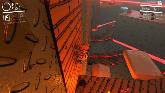 Demon Turf är ett tredimensionellt plattformsspel – i 2d?