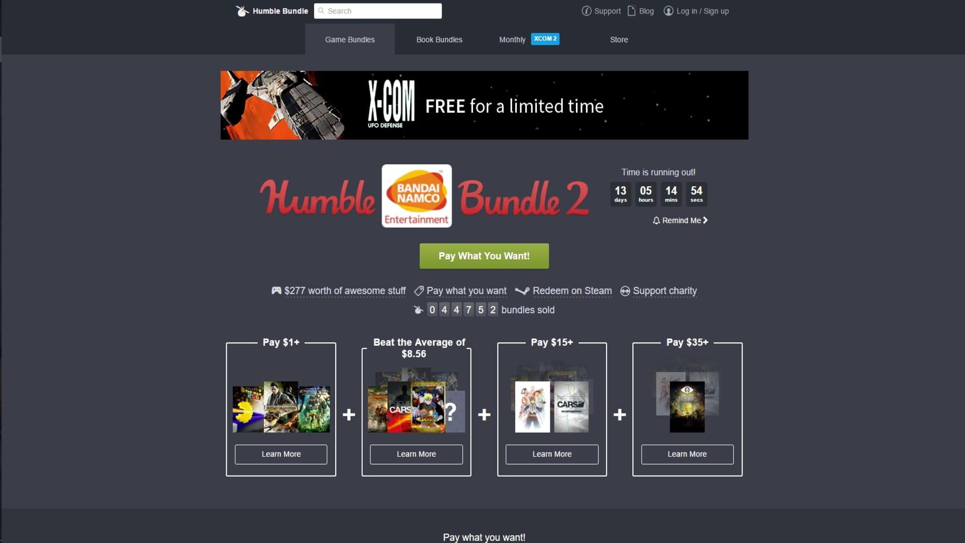 Ny Humble Bundle med Bandai Namco-tema