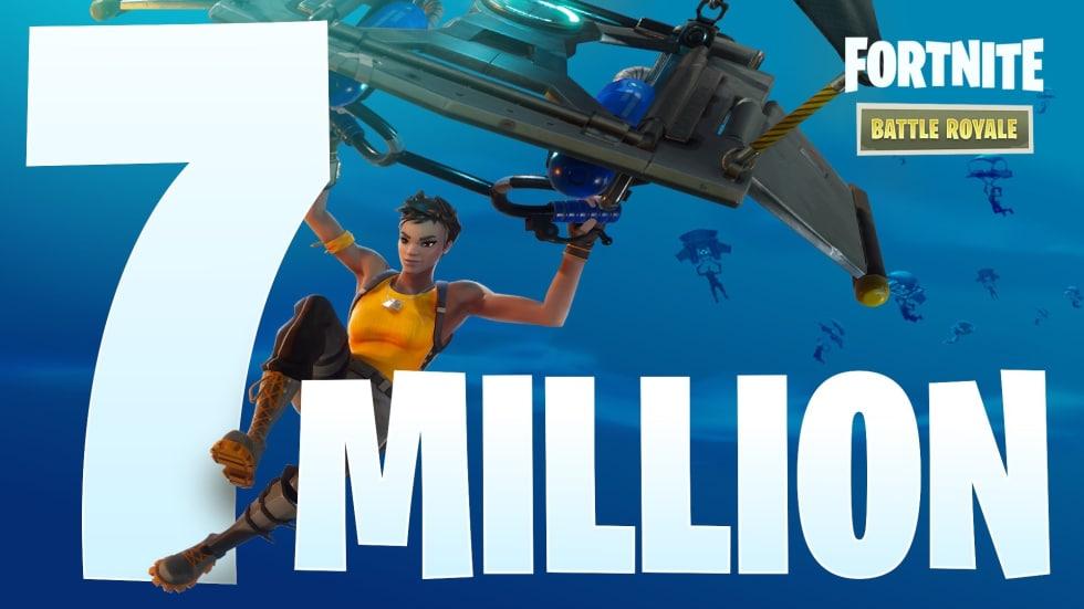 Nu har över sju miljoner spelat Fortnite