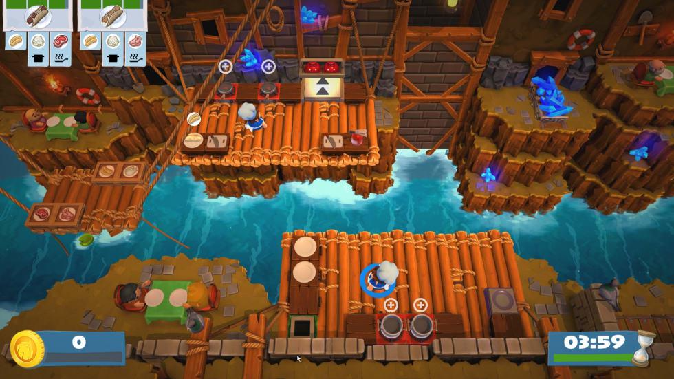 Skärmdump från Overcooked 2.