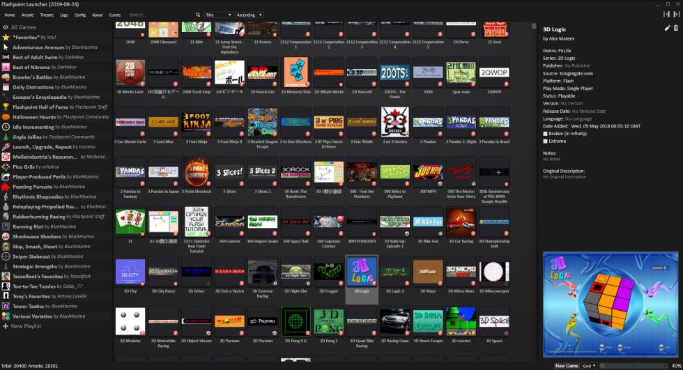 Flash är snart dött men tack vare Flashpoint har över 38000 spel bevarats