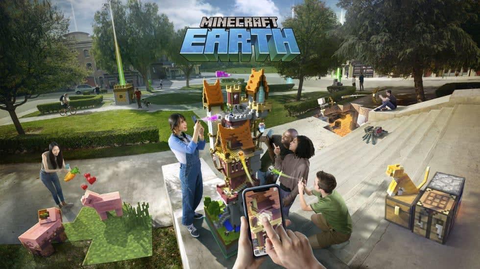 Konceptbild från Minecraft Earth.
