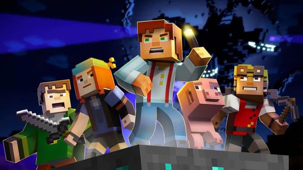 Bild från Minecraft Story Mode.