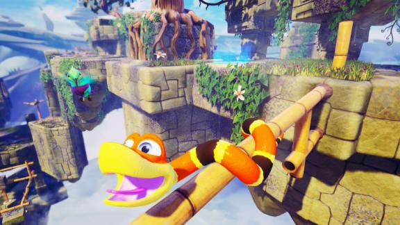 Gratisspel! Snake Pass skänks bort av Humble
