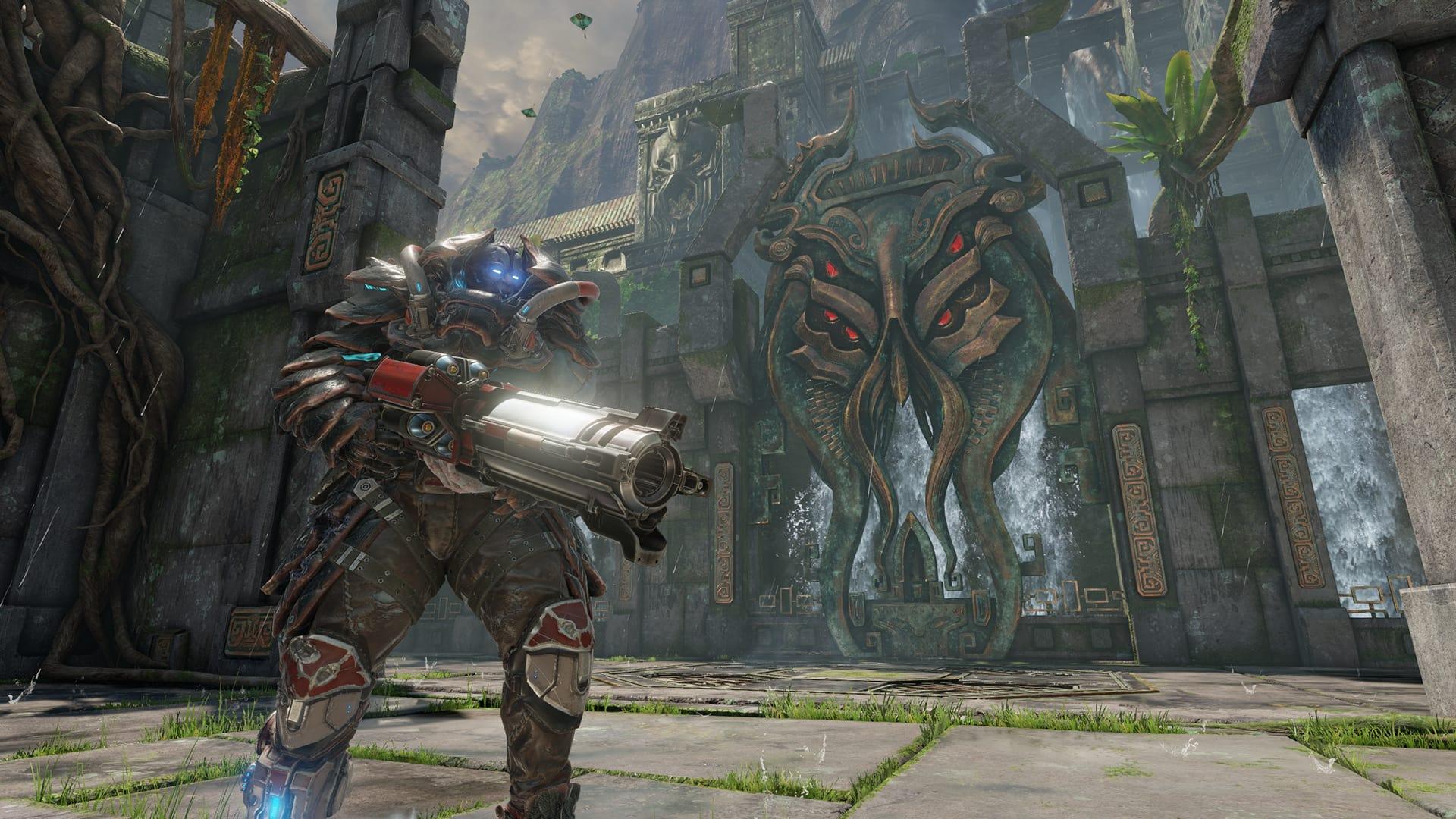 Quake Champions-hjälten Scalebearer gör tung entré