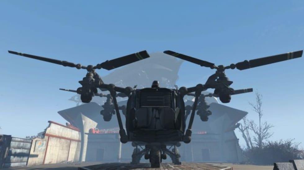 Fallout 4-mod låter dig göra om en vertibird till hembas