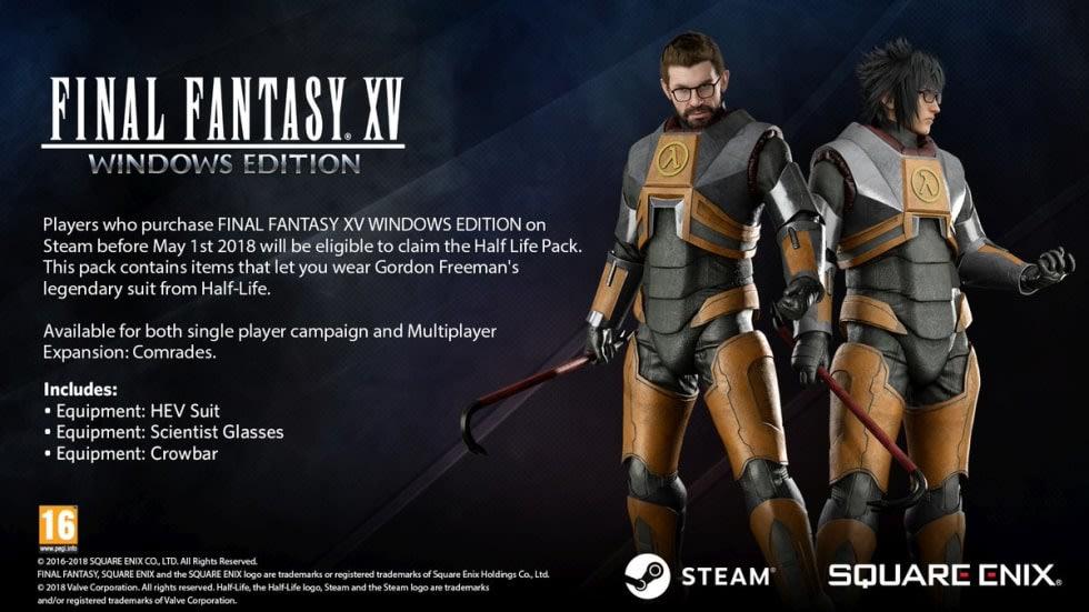 Cosplaya som Gordon Freeman i Final Fantasy XV