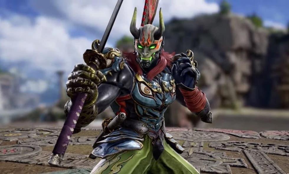 Här är Yoshimitsu i Soul Calibur VI