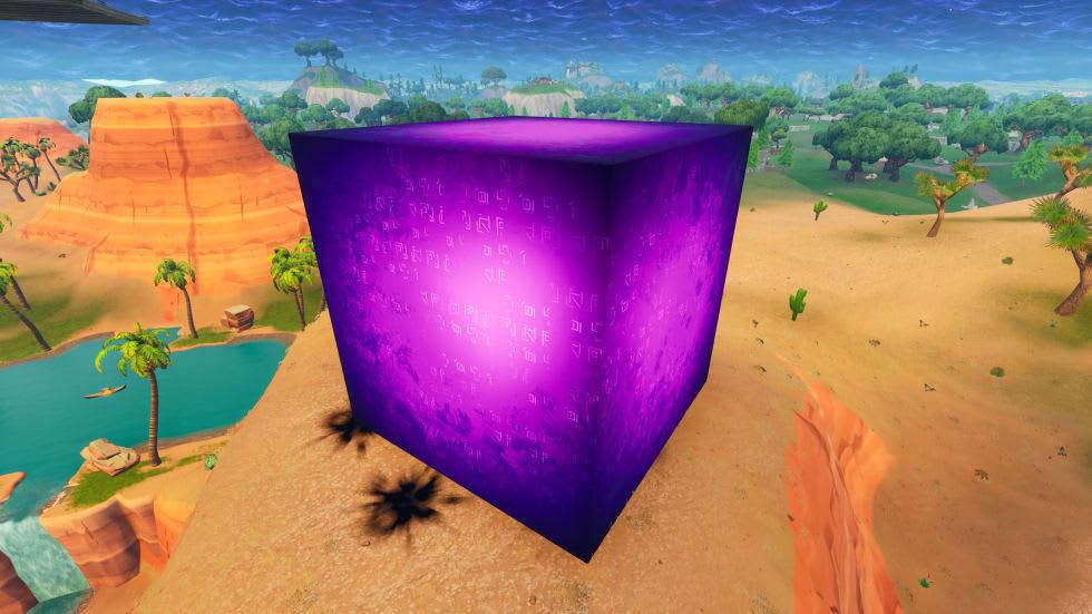 En mystisk lila kub har dykt upp i Fortnite