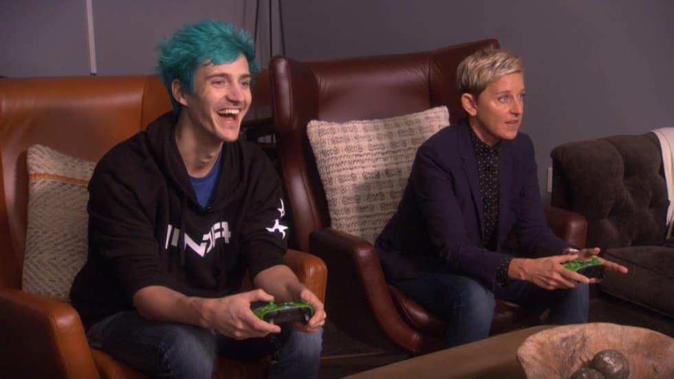 Det är dags att se Ninja spela Fortnite med Ellen DeGeneres