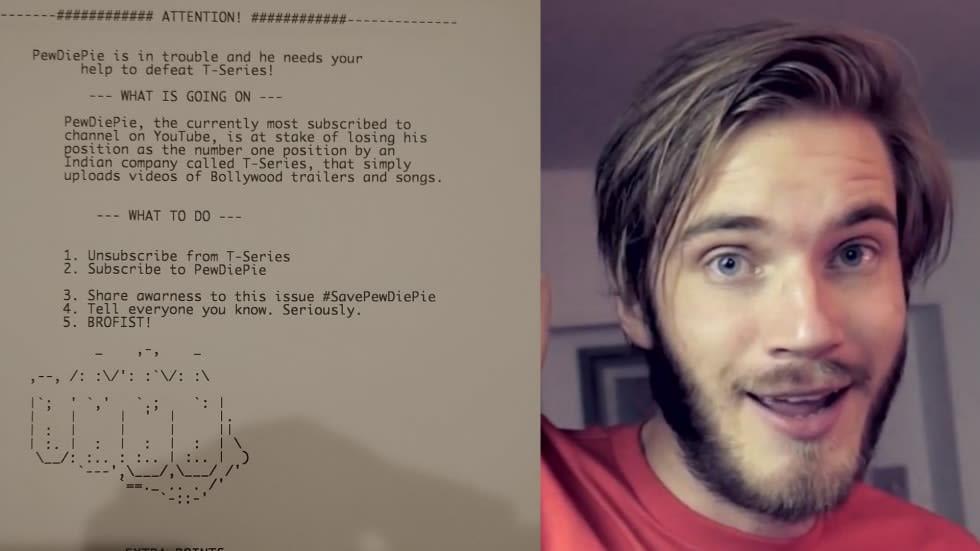 Ett fan har hackat skrivare världen över för att hjälpa Pewdiepie