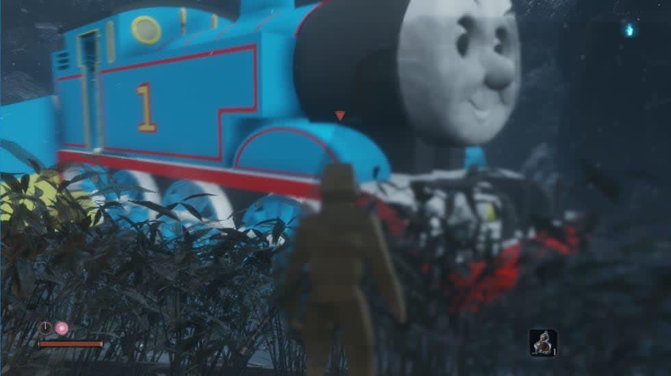 Någon har moddat in tåget Thomas i Sekiro: Shadows Die Twice