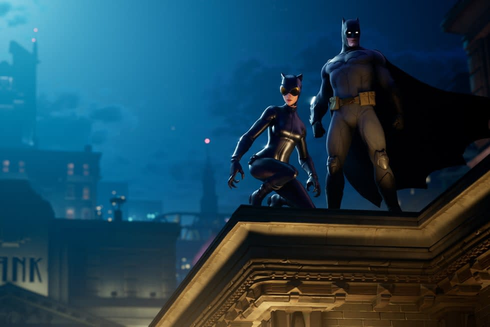 Batman och Catwoman gästar Fortnite, utforska Gotham City i ny rift-zon!