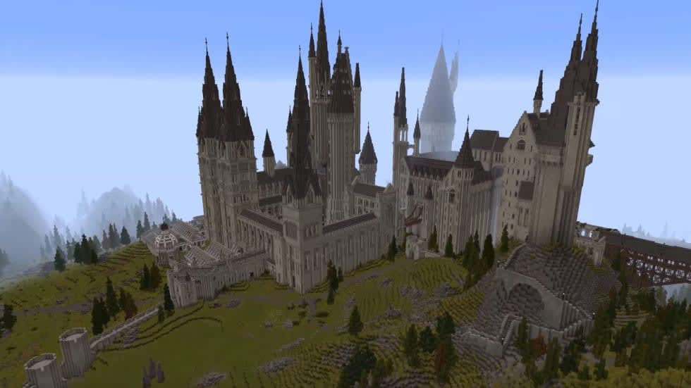 Nu kan du ladda ner den där imponerande Harry Potter-kartan till Minecraft