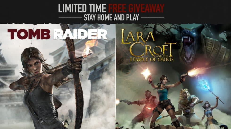Tomb Raider och Lara Croft and the Temple of Osiris ges bort gratis