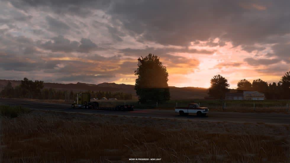 American Truck Simulator drar till Wyoming och får grafisk översyn