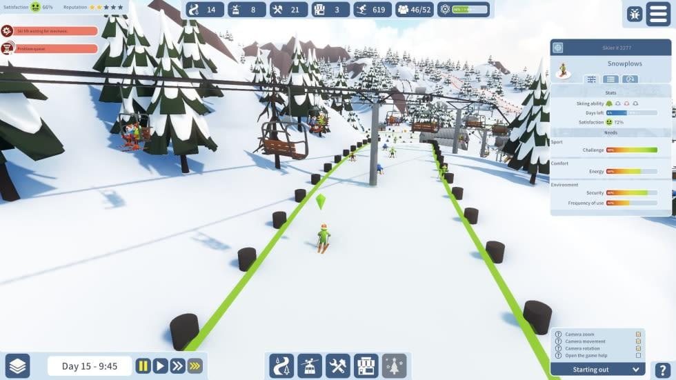 Bygg dina egna slalombackar i Snowtopia: Ski Resort Tycoon