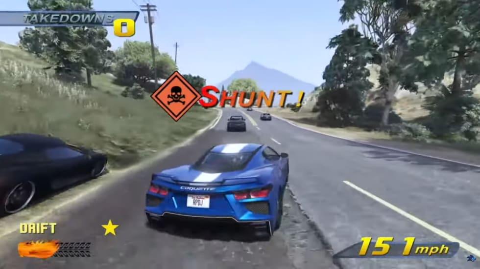 Animatör återskapar Burnout 3  i GTA 5, och resultatet är imponerande!