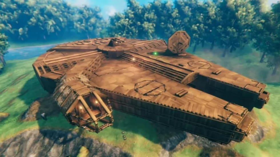 Hängiven spelare har byggt Årtusendefalken i Valheim
