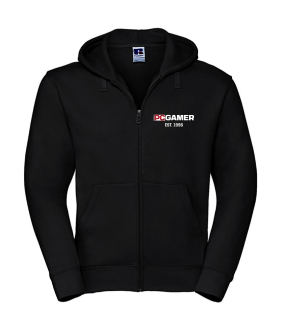 Bild på PC Gamers svarta hoodie..