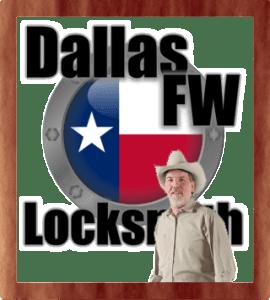 Dallas FW Locksmith logo with locksmith