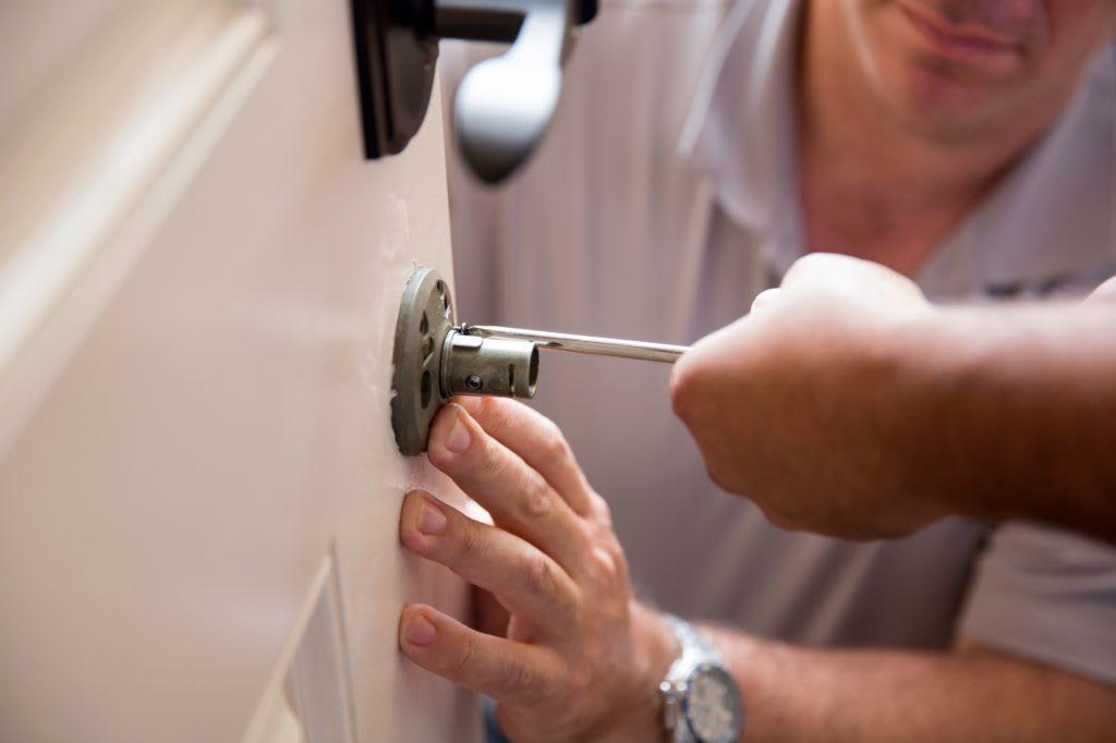 Home lock installation
