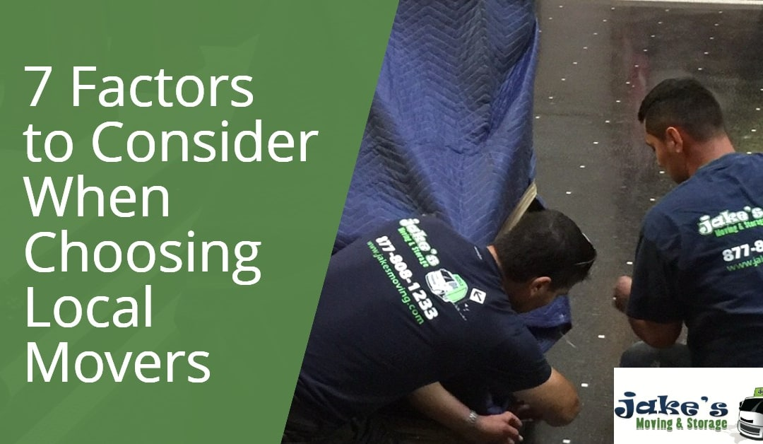 7 Factors to Consider When Choosing Local Movers
