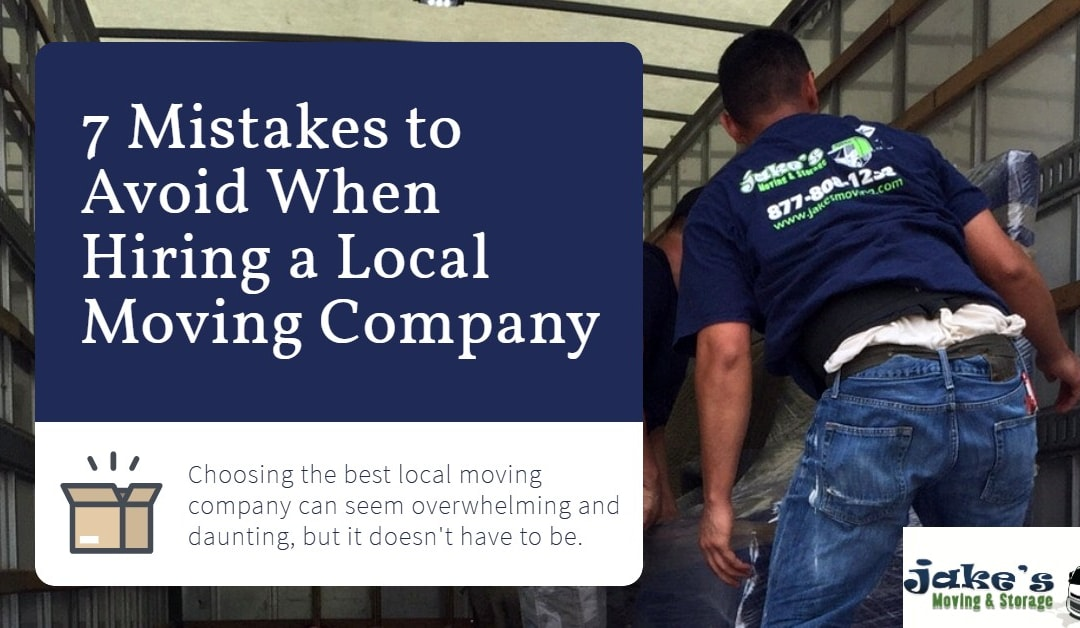 7 Mistakes to Avoid When Hiring a Local Moving Company
