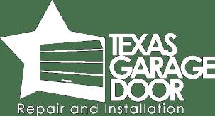 Texas Garage Door Logo White