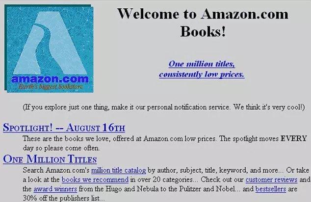 Primeiro site da Amazon