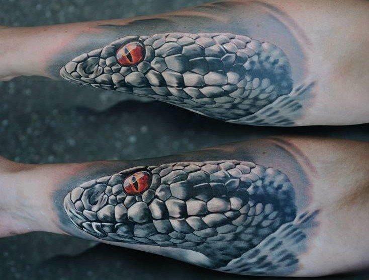 Tatuagem de Cobra - Cabeca