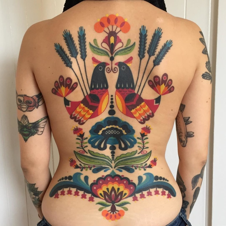 Tattoo New School psicodélica por Winston the Whale