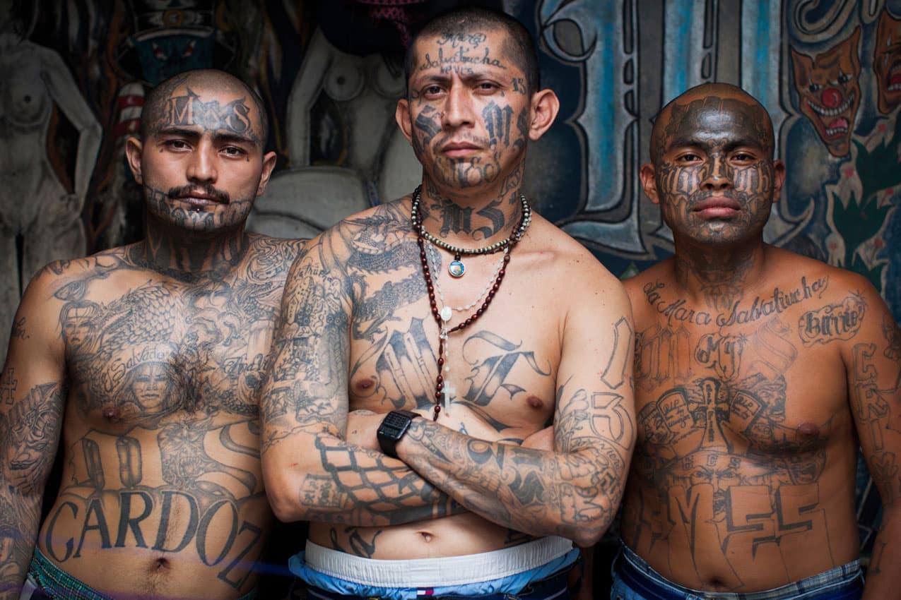 Tatuagens da gangue Mara Salvatrucha - MS 13
