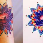 Tatuagem e desenho de Flor de Lótus
