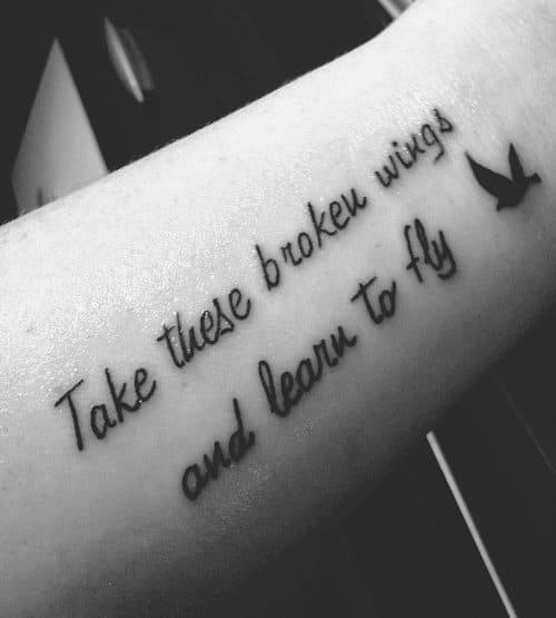 Tatuagem de Frase sobre Liberdade