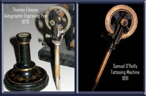 Máquina de tatuagem criada por Thomas Edison