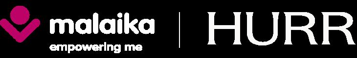 Malaika and HURR logos