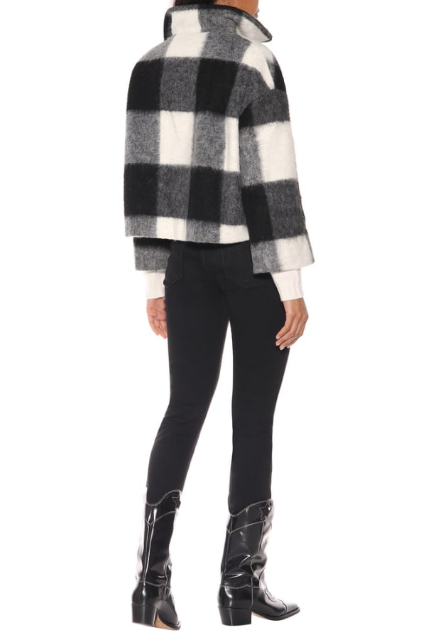 Ganni Mckinney Check Wool Sweater 1 Preview Images