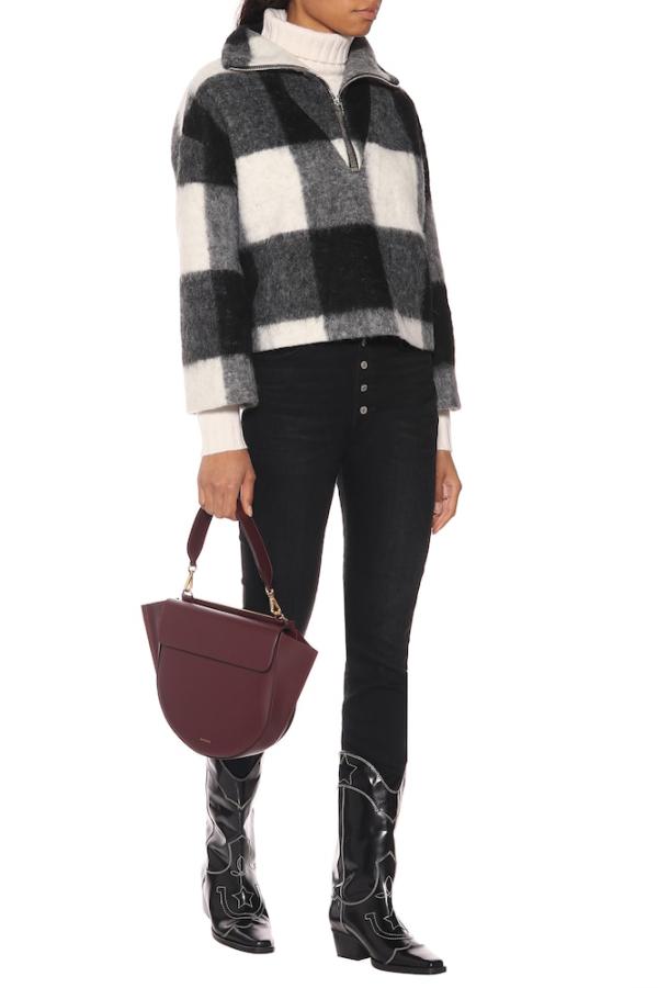 Ganni Mckinney Check Wool Sweater 3