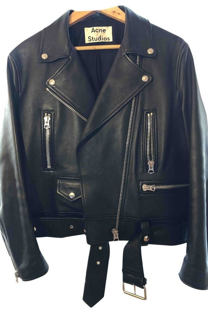 Acne Studios Merlyn Leather Jacket Preview Images