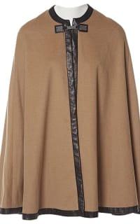 Ralph Lauren Beige Cashmere & Leather Cape 4 Preview Images
