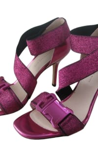 Christopher Kane Lurex Safety Buckle Sandal 6 Preview Images