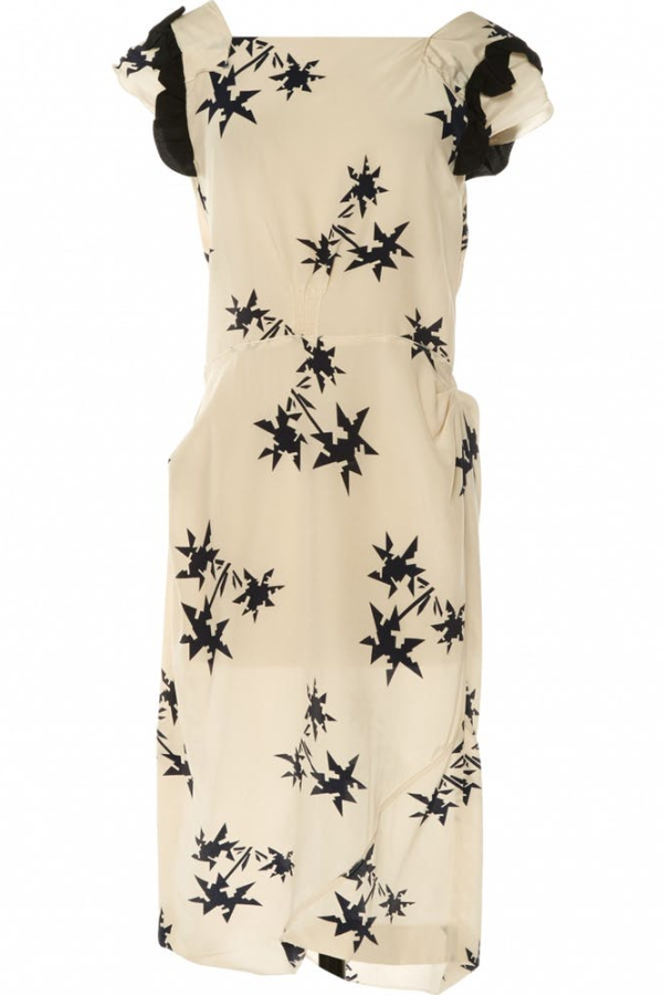 Miu Miu Cream silk pencil Dress
