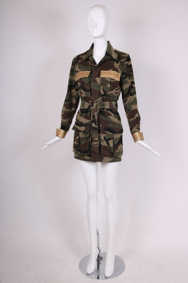 Saint Laurent Military Style Camouflage Jack 3