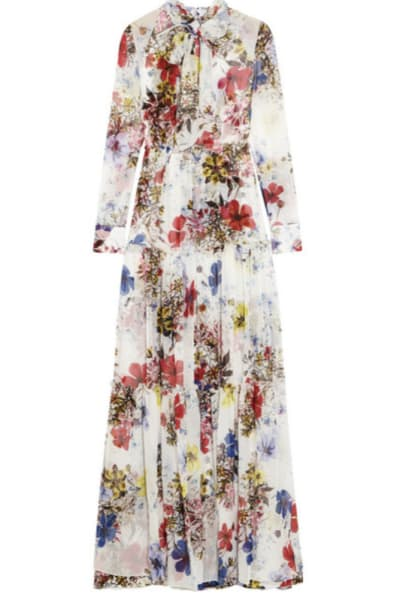 Erdem Floral long-sleeve dress