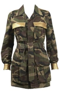 Saint Laurent Military Style Camouflage Jack Preview Images