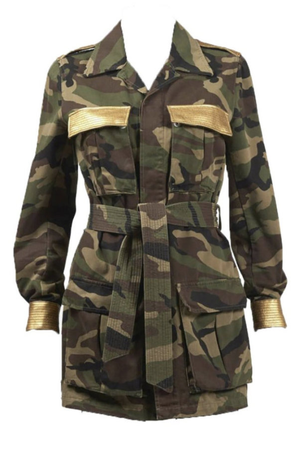 Saint Laurent Military Style Camouflage Jack