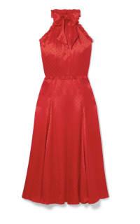 Alexa Chung Polka-dot silk-blend jacquard dress Preview Images