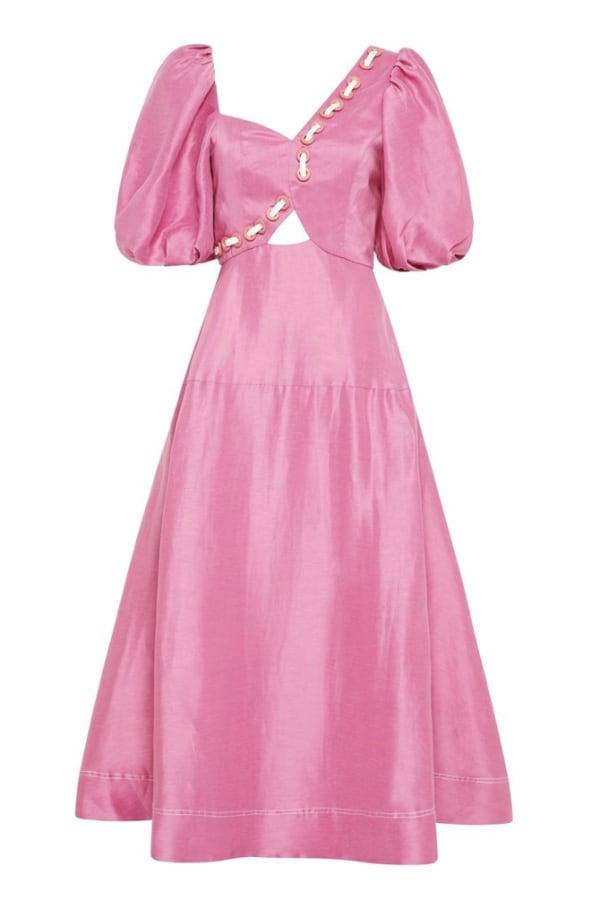 Image 1 of Aje coda eyelet midi dress