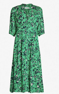 BA&SH Elfe floral-print woven midi dress 4 Preview Images